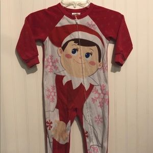 Other - Elf on the shelf footie pajamas